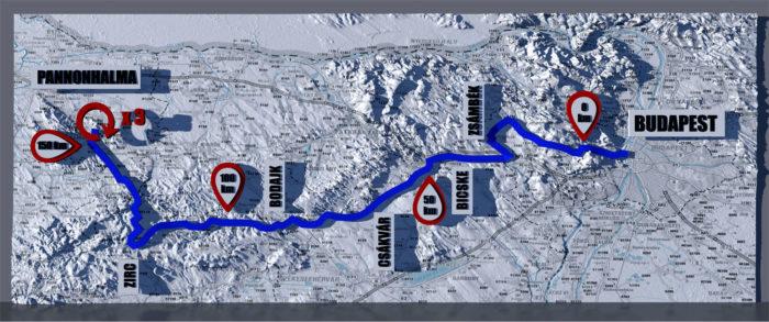Versenyútvonal térkép 2017